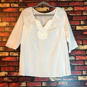 Size Large Raindrops White Blouse